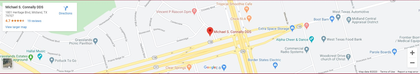 midland dentist map
